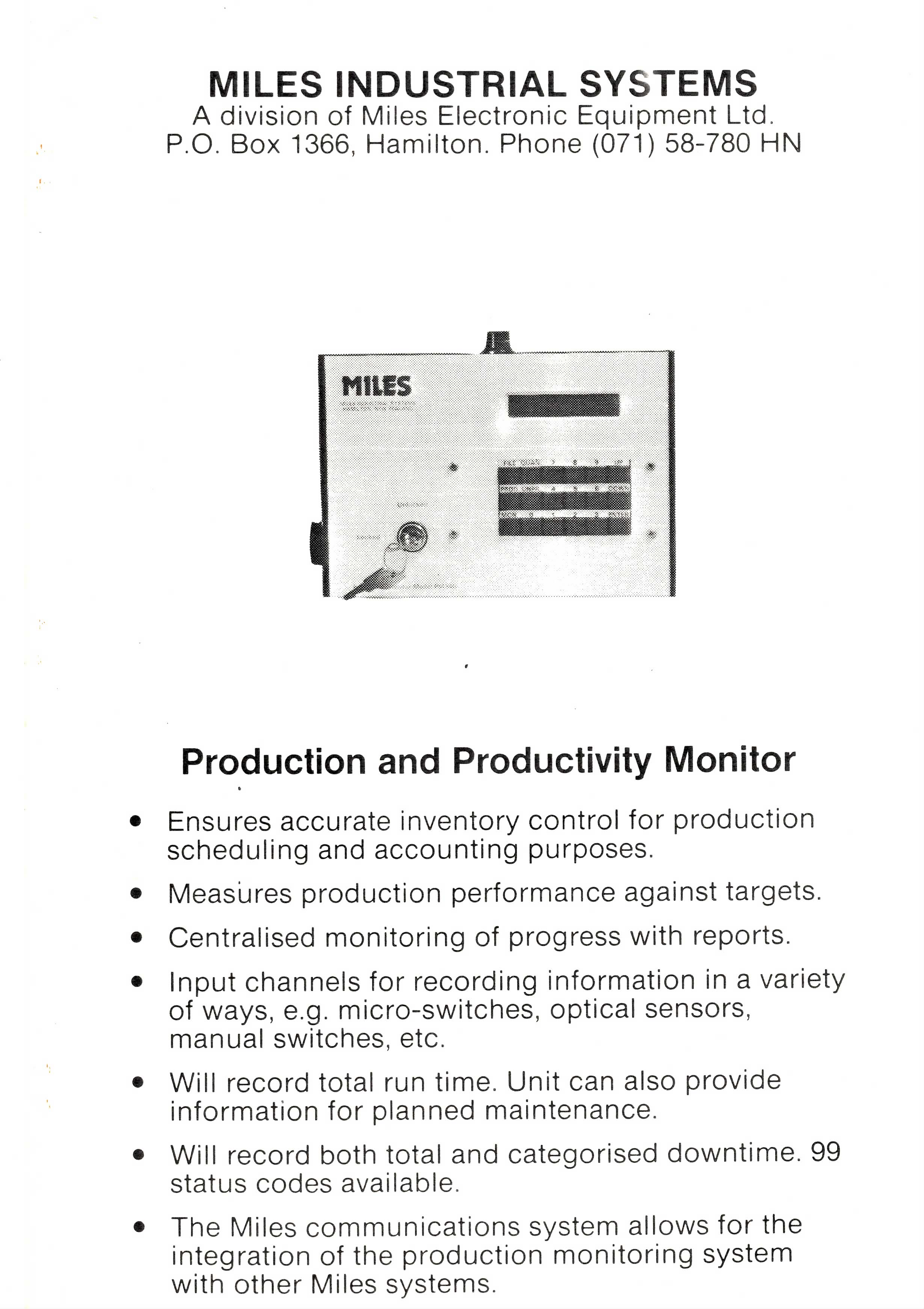 Production Monitor